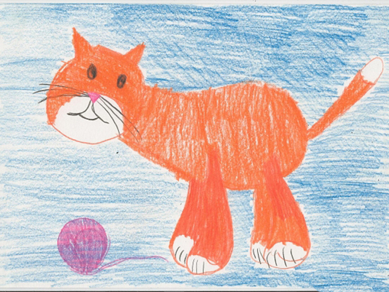 Рисунок ребенка животное