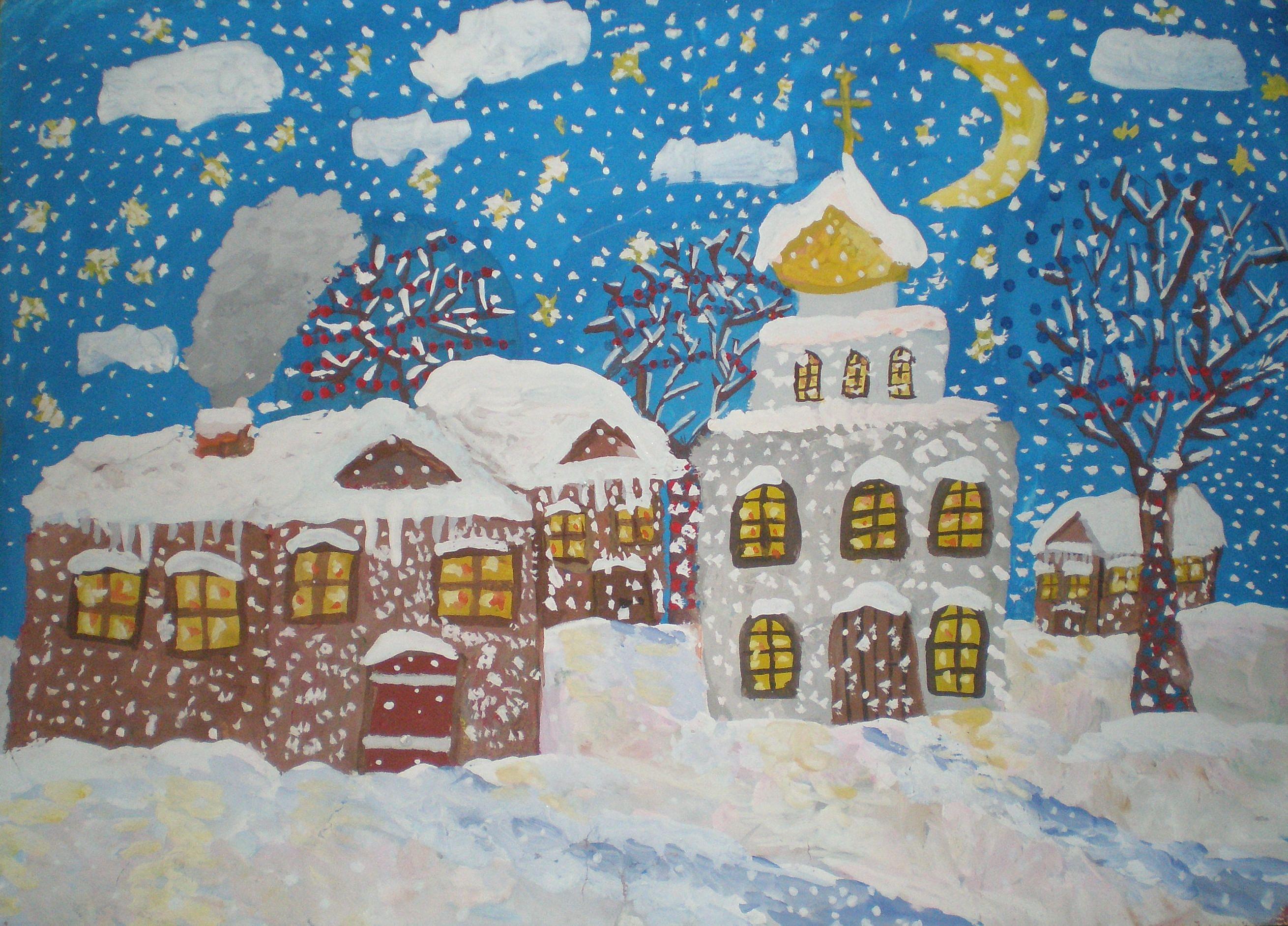 оперения рисунок в первый класс на тему зима окончания